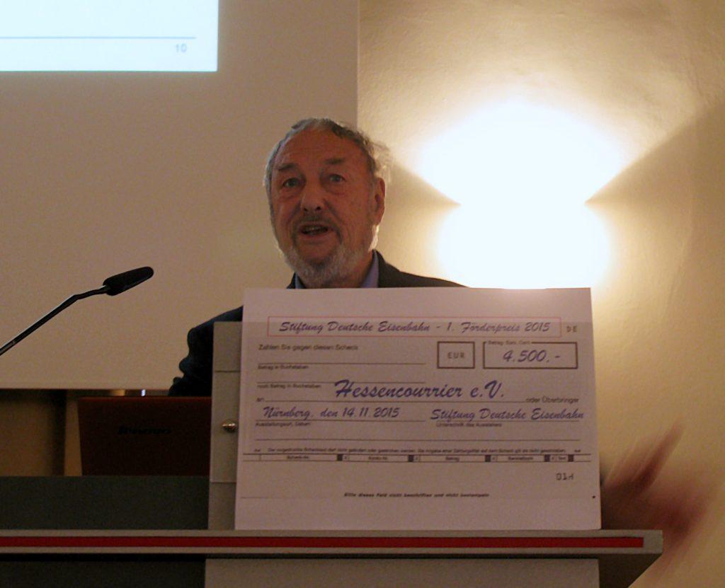 SDE Förderpreis 2015 für den Hessencourrier-Bahnhof