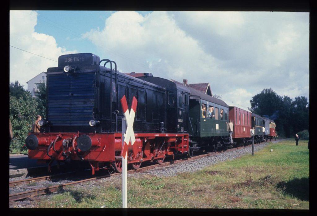 Erste Fahrt des Hessencourrier 1972 Kassel-Gudensberg